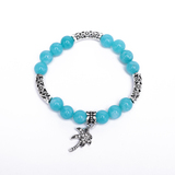 Amazonite gemstone Bracelet with single wing