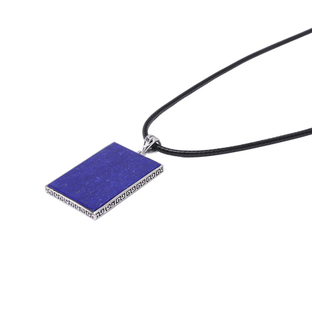 Lapis Leather Cord Necklace 20x30