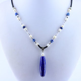 Lapis Pearl Necklace N0056Pea