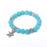 Amazonite 8mm Bracelet with Starfish Metal